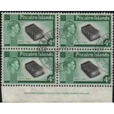 1951 PITCAIRN Is. KGVI 4d Bounty Bible bl/4 VFU