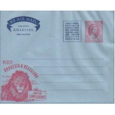 1957 RHOD. & NYASALAND 6d QEII Arogramme Mint