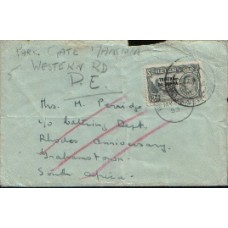 1953 TRISTAN KGVI 3d on cover