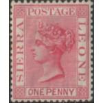 1885 SIERRA LEONE QV 1d rose carmine LMM