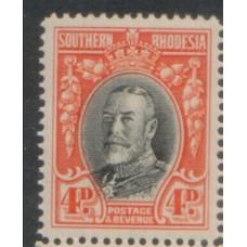 1931 SOUTHERN RHODESIA KGV 4d perf 14 MNH