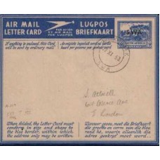 1946 SOUTH WEST AFRICA  3d Aerogr of SA ovpt SWA VFU