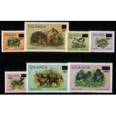 1983 UGANDA Animal overprint set MNH