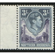 1938 NORTHERN RHODESIA KGVI marginal 3sh MNH.