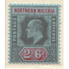 1910 NORTHERN NIGERIA KE 2s6d blk & red MNH