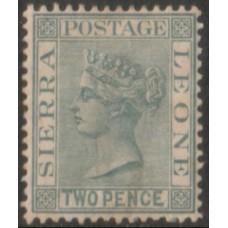1884 SIERRA LEONE QV 2d grey LMM