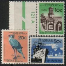 1961 SOUTH AFRICA 10c 20c 50c top values VLM