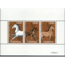 2003 UGANDA Year of the Horse MS 3x 1200s MNH