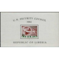 1961 LIBERIA Security Council 50c MS MNH