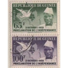 1959 GUINEA Dove of Peace & Map Used