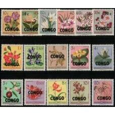 1960 CONGO (Kinshasa) Flowers set to 20Fr MNH