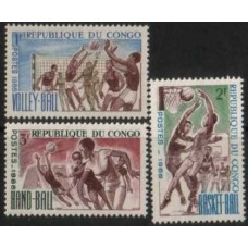 1966 CONGO (Braz) 3 Sport values MNH