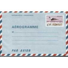 1993 FRANCE Fr 2.10 Concorde Aerogramme Mint