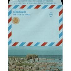 1968 ZAMBIA Aerogramme Elephant Mint