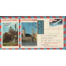 1988 AUSTRIA Two 11s Aerogrammes