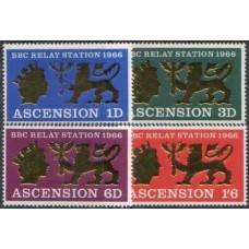 1966 ASCENSION BBC set MNH