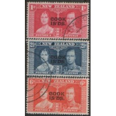 1937 COOK ISLANDS KGVI Coronation set VFU