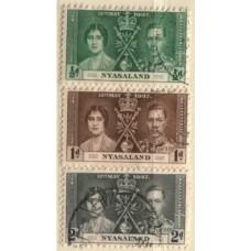 1937 NYASALAND KGVI Coronation VFU.