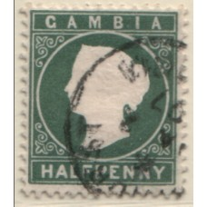 1886 GAMBIA QV 1/2d grey-green VFU