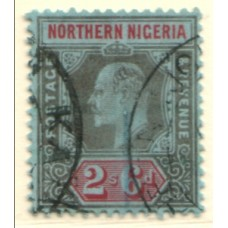 1910 NORTHERN NIGERIA KE 2s6d blk & red VFU