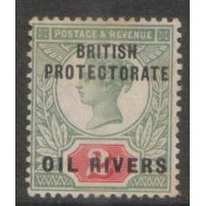 1892 NIGERIA - OIL RIVERS QV 2d very fine Mint