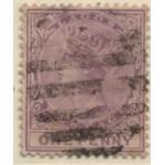 1882 LAGOS QV 1d lilac-mauve VFU
