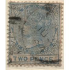 1882 LAGOS QV 2d blue VFU