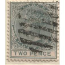 1882 LAGOS QV 2d grey VFU