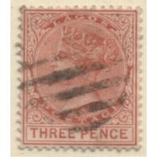 1882 LAGOS QV 3d chestnut VFU