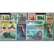 1961 TANGANYIKA Independent Def. set MNH