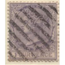 1884 LAGOS QV 4d violet VFU