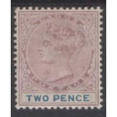 1887 LAGOS QV 2d mauve & blue Mint
