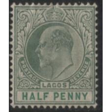 1904 LAGOS KE 1/2d green VF LMM