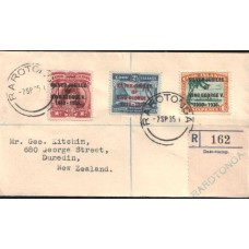 1935 COOK ISLANDS KGV Silver Jubilee Cover