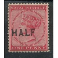 1895 NATAL QV 1/2d on 1d MINT