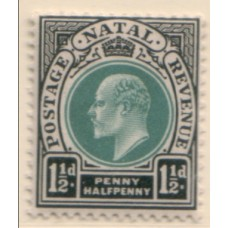 1902 NATAL KE 1-1/2d green & black MNH