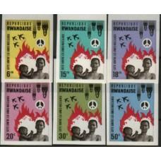 1966 RUANDA Anti - Nuke set MNH