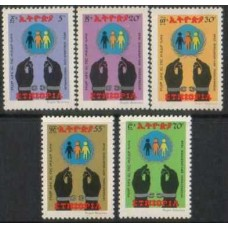 ETHIOPIA: 1978 4 complete Sets Racism MNH