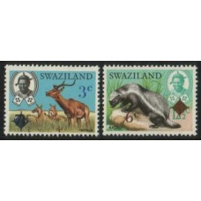SWAZILAND:  1975  Animal ovpts. set of 2 x4 MNH