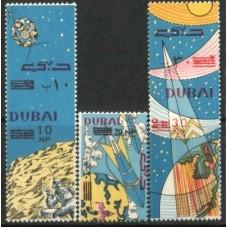 1964 DUBAI Space Exploration set MNH