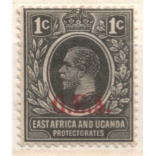 1922 TANGANYIKA KGV 1c black LMM