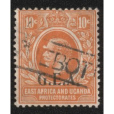 1922 TANGANYIKA KGV 10c orange VFU