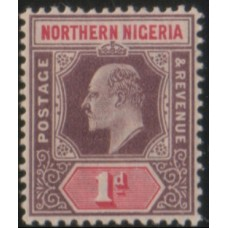 1902 NORTHERN NIGERIA KE 1d purple & car LMM