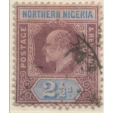 1902 NORTHERN NIGERIA KE 2-1/2d purple & ult VFU