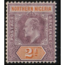1905 NORTHERN NIGERIA KE 2d purple & yel LMM