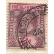 1910 NORTHERN NIGERIA KE 6d purple on pr VFU