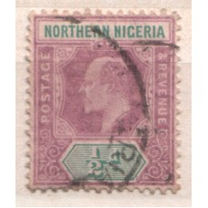 1905 NORTHERN NIGERIA KE 1/2d purple & grn VFU