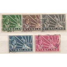 1938 NYASALAND KGVI 5 values VFU.