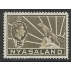 1938 NYASALAND KGVI 9d MNH.