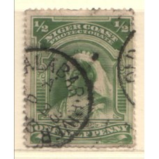 1894 NIGER COAST 1/2d pm OLD CALABAR RIVER VFU